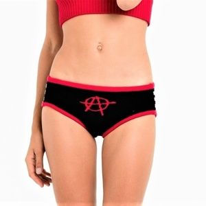 M new KNITTY KITTY Anarchy Symbol panties knickers